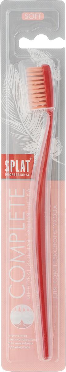 Splat Зубная щетка Complete Soft, для комплексного очищения, мягкая, цвет: красный щетка зуб splat professional complete medium