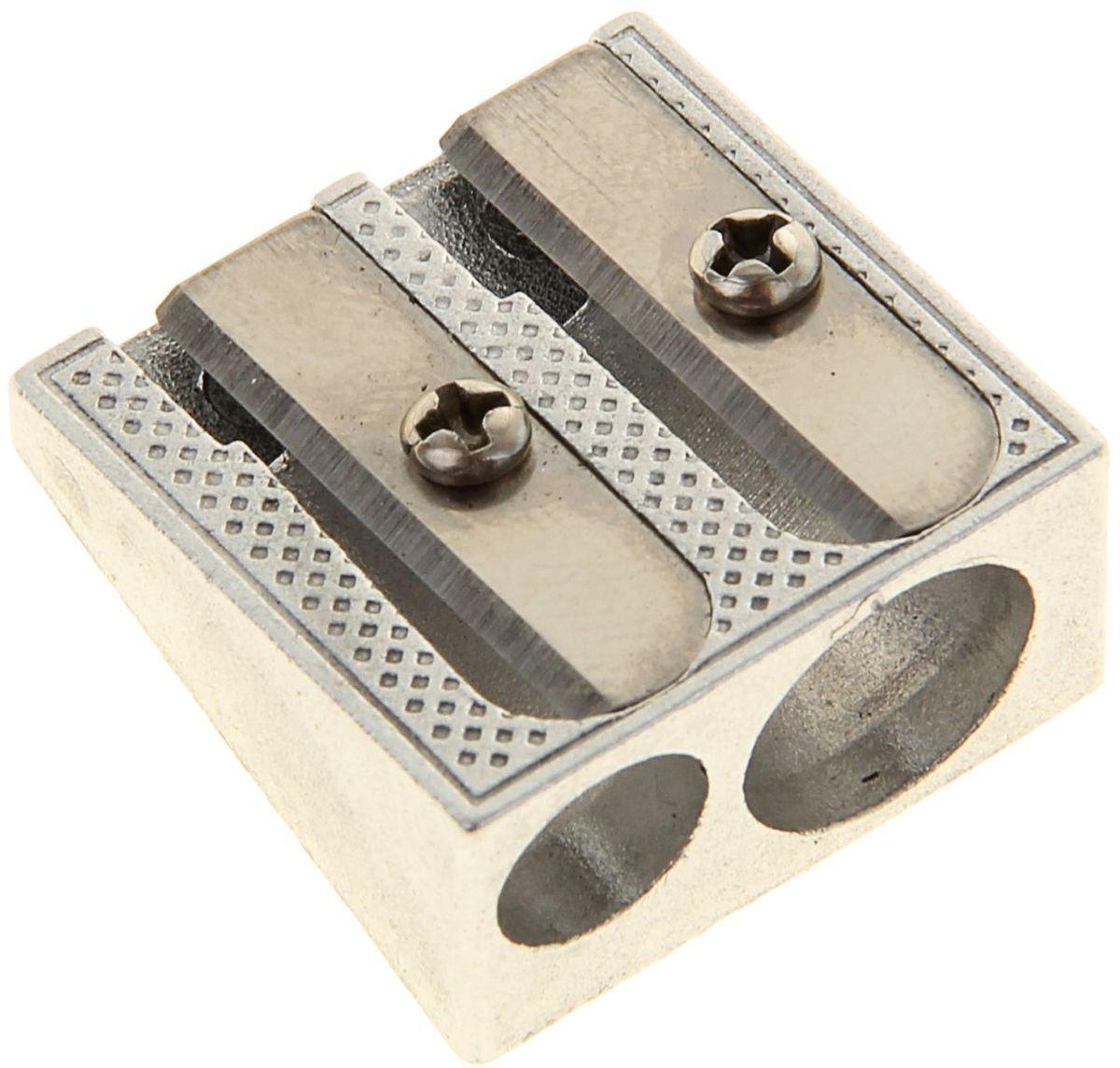 Erich Krause Точилка двойная Ferro Plus1056632Двойная точилка Erich Krause Ferro Plus имеет ударопрочный металлический корпус.Оснащена двумя отверстиями диаметром 8 мм и 11 мм для заточки стандартных и утолщенных (Jumbo) карандашей.Высококачественное стальное лезвие обеспечивает аккуратную и острую заточку.