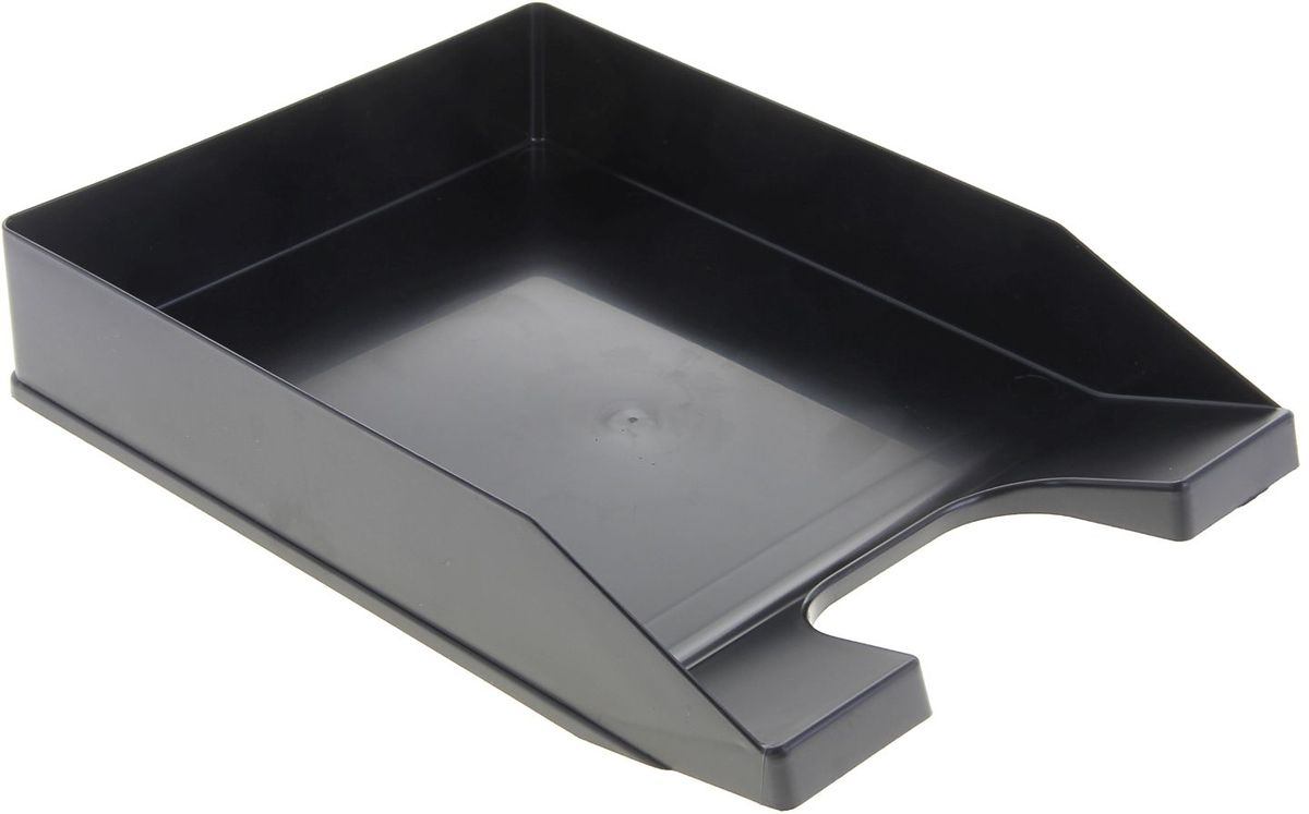 Стамм Лоток для бумаг горизонтальный Стандарт цвет черный1083083Лоток для бумаг Стамм выполнен в современном элегантном дизайне из высококачественного прочного пластика.Имеет одно вместительное отделение для листов формата А4. С лотком для бумаг Стамм на вашем рабочем столе всегда будет царить порядок, а важные бумаги будут под рукой и не потеряются.