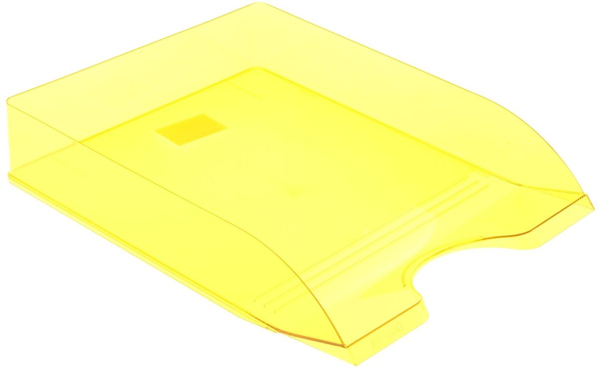 Стамм Лоток для бумаг горизонтальный Дельта цвет желтый - Лотки, подставки для бумаг
