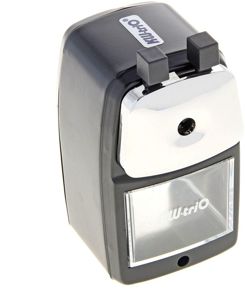 KW-Тrio Точилка1098013Тип: механическая точилка.Количество отверстий: 1 штука.Карандаши: до 8 мм в диаметре.Корпус: металлический.Размеры: 85х70х130 мм.Материал корпуса: металл.Форма отверстия: круглая.