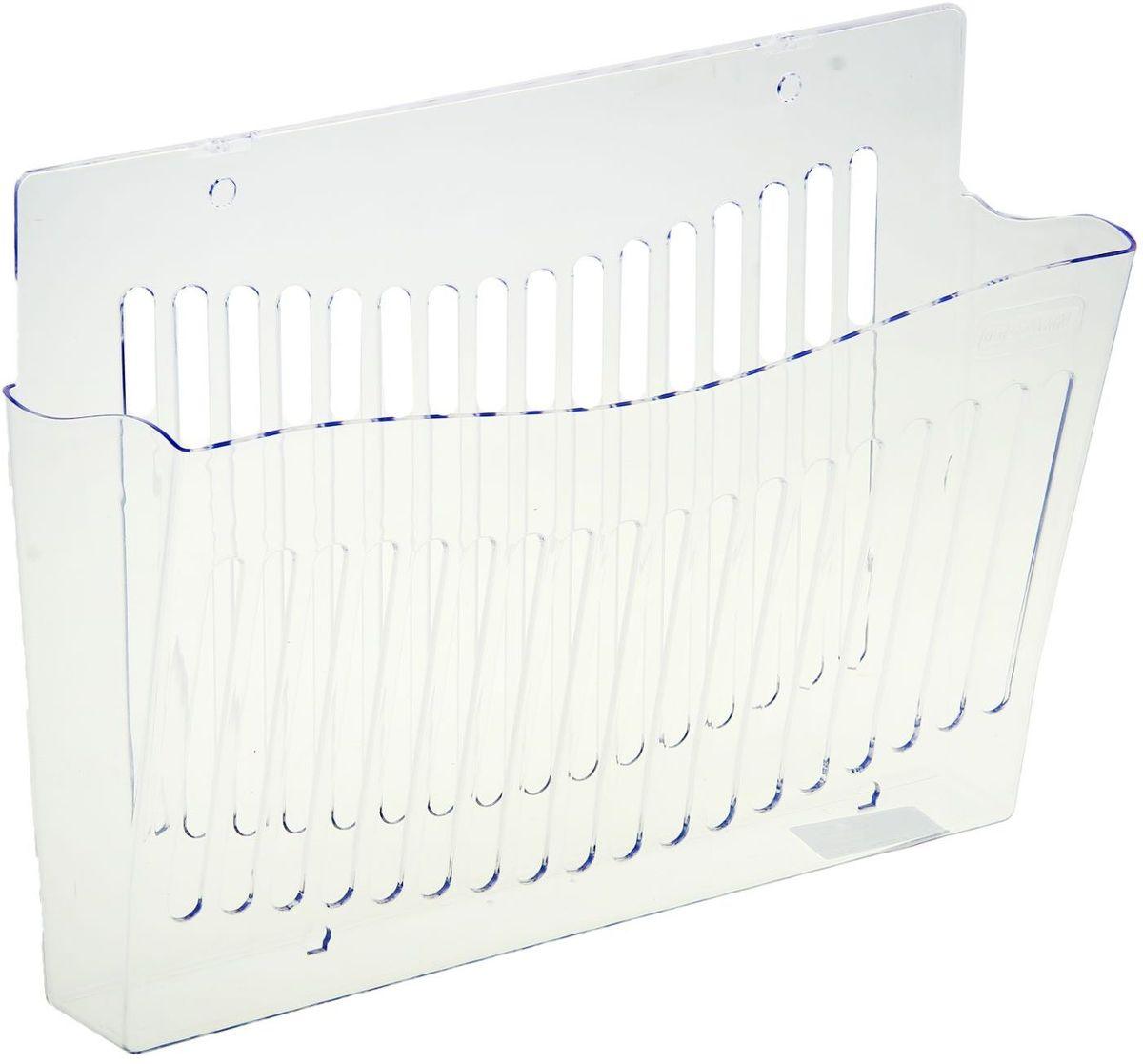 Стамм Лоток для бумаг настенный цвет прозрачный1147654Лоток для бумаг Стамм выполнен в современном элегантном дизайне из высококачественного прочного пластика. Имеет одно вместительное отделение для листов формата А4. Благодаря специальным вырубкам, лоток можно закрепить на стене. С лотком для бумаг Стамм на вашем рабочем столе всегда будет царить порядок, а важные бумаги будут под рукой и не потеряются.