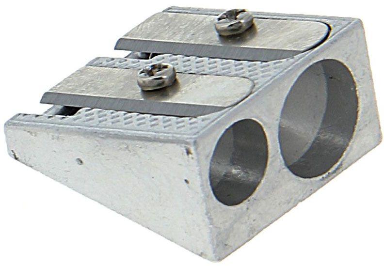 Deli Точилка двойная1272985Двойная точилка Deli выполнена из металла.Оснащена двумя отверстиями разных диаметров.Высококачественное металлическое лезвие обеспечивает аккуратную и острую заточку.