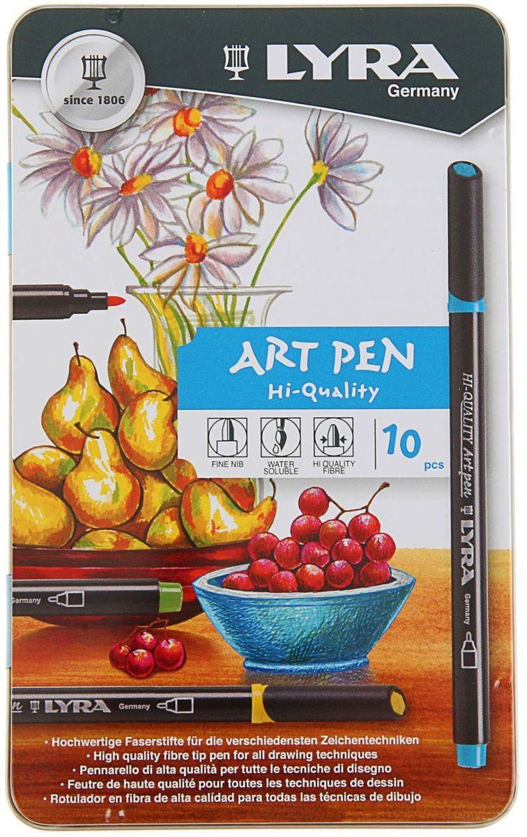LYRA Набор фломастеров Hi-Quality Art Pen 10 цветов1850392