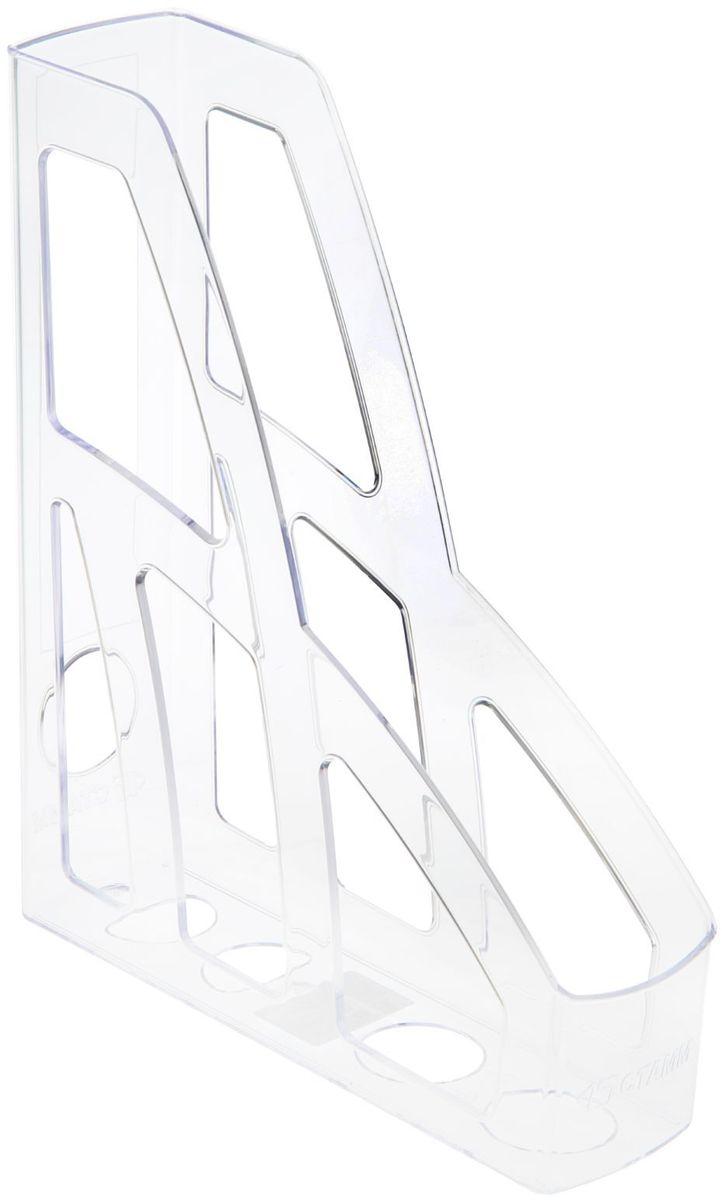 Стамм Лоток для бумаг вертикальный Лидер цвет прозрачный1889806Лоток для бумаг Стамм выполнен из высококачественного пластика.Лоток имеет одно отделение для листов формата А4, на рабочем столеустанавливается вертикально.С лотком для бумаг Стамм у вас больше невозникнут сложности с поддержанием порядка на столе!