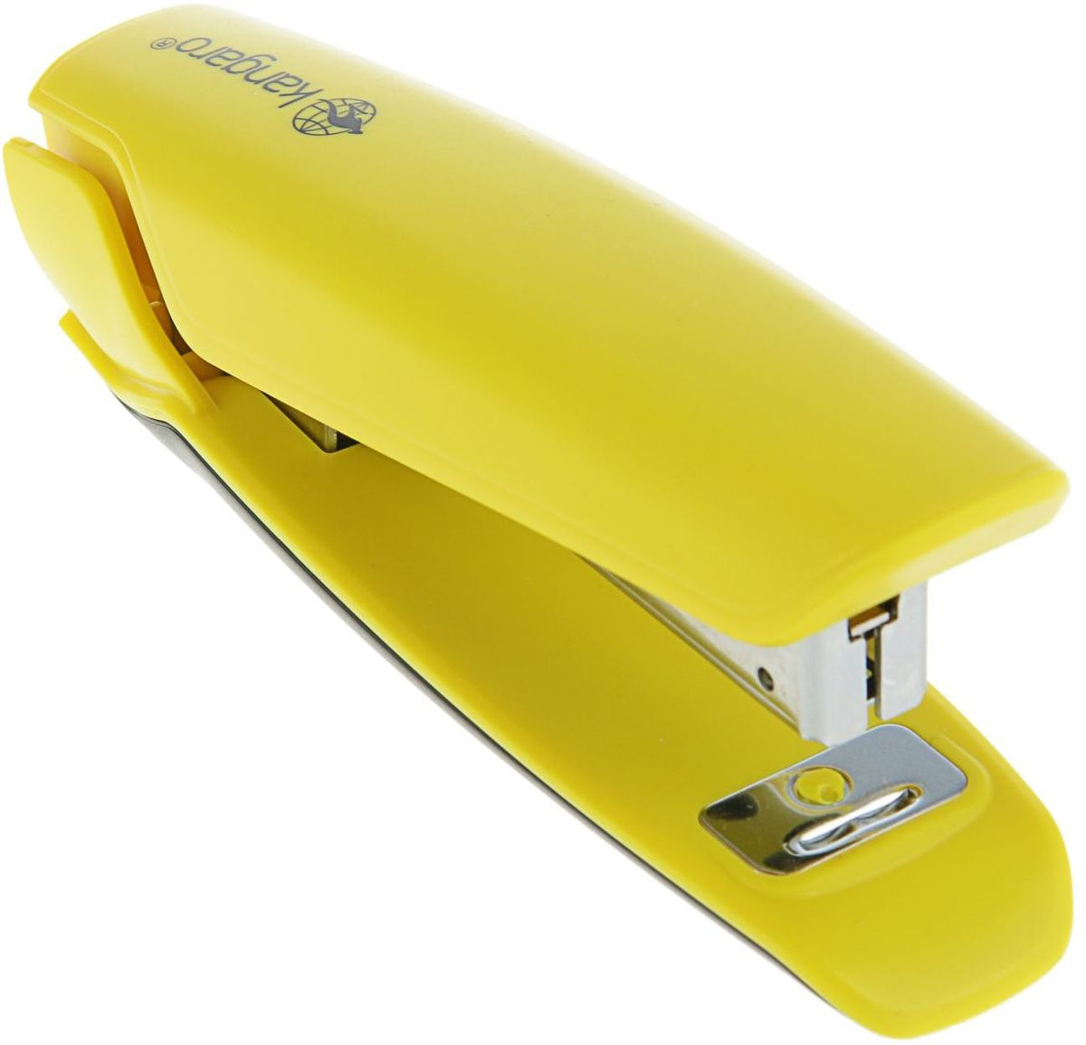 Kangaro Степлер Nowa-10 №10 цвет желтый2334248Степлер Kangaro Nowa-10 имеет пластиковый корпус, качественный металлический сшивной механизм.В задней части расположен встроенный металлический антистеплер. Максимальная загрузка - 100 листов, глубина закладки бумаги - 60 мм, пробивная мощность - 15 листов бумаги 80г/м.Используются скобы №10.