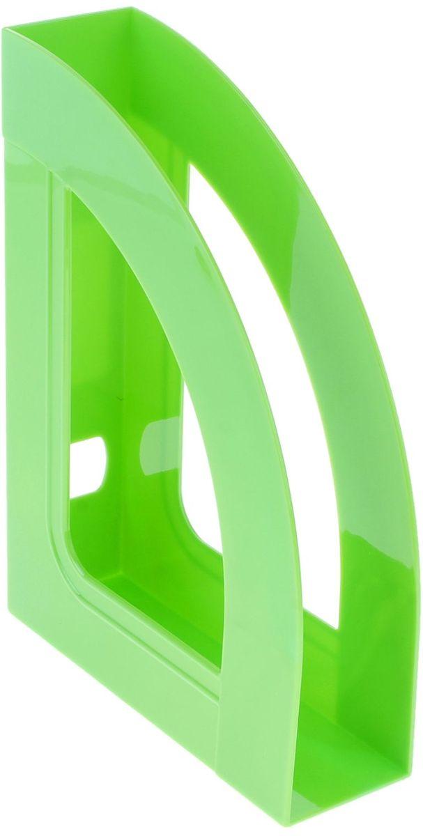 Стамм Лоток для бумаг вертикальный Респект цвет зеленый -  Лотки, подставки для бумаг