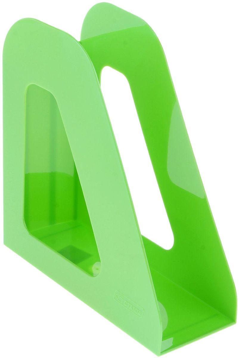 Стамм Лоток для бумаг вертикальный Фаворит цвет зеленый511178Лоток для бумаг Стамм выполнен в современном элегантном дизайне из высококачественного пластика.Лоток имеет одно отделение для листов формата А4, на рабочем столе устанавливается вертикально.С лотком для бумаг Стамм у вас больше не возникнут сложности с поддержанием порядка на столе!