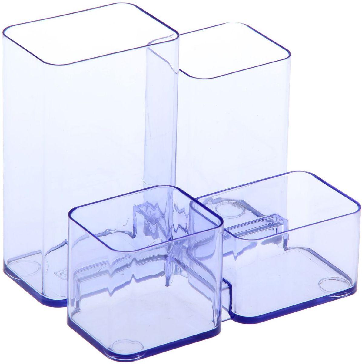Стамм Органайзер настольный Юниор цвет голубой580868Органайзер Юниор тонированный – простая и практичная вещь. Он очень быстро станет незаменимым жителем на рабочем столе. Множество отделений вместят в себя все самое необходимое, сэкономив тем самым ваше время, пространство на столе и деньги.
