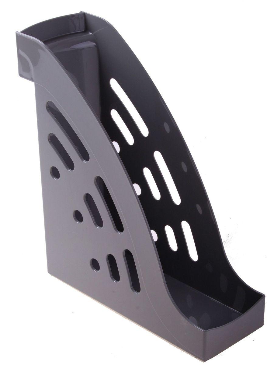 Стамм Лоток для бумаг вертикальный Торнадо цвет серый -  Лотки, подставки для бумаг