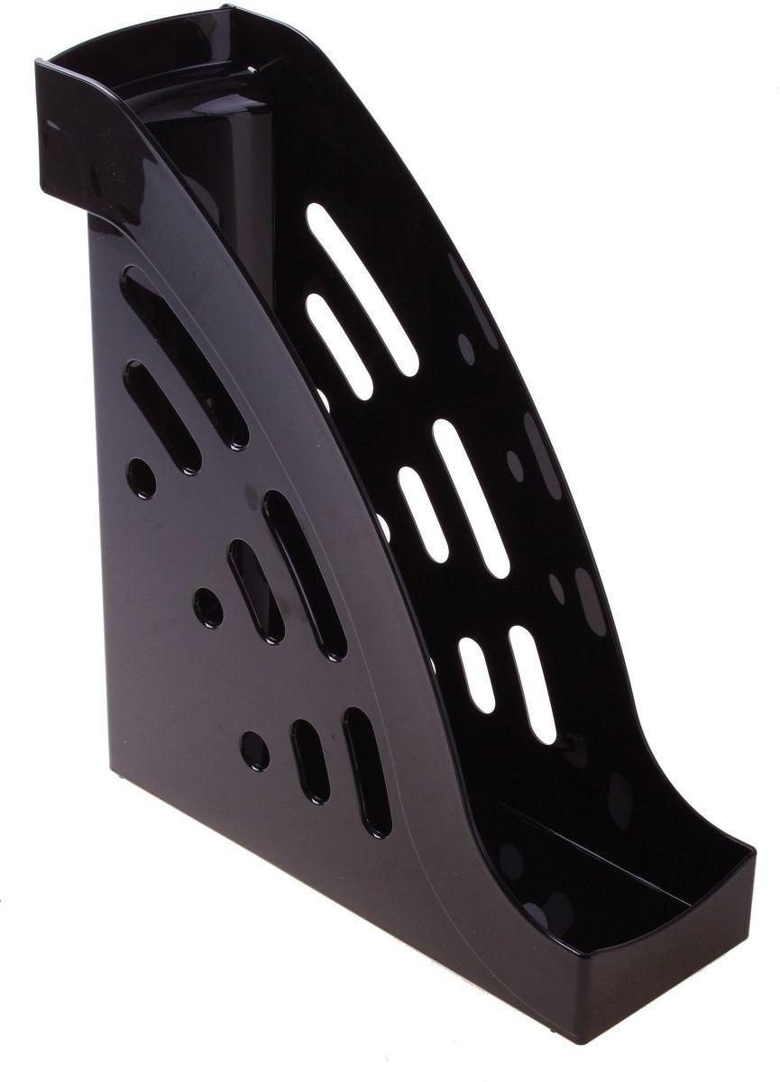 Стамм Лоток для бумаг вертикальный Торнадо цвет черный584858Лоток для бумаг Стамм выполнен в современном элегантном дизайне из высококачественного пластика. Лоток имеет одно отделение для листов формата А4, на рабочем столе устанавливается вертикально.С лотком для бумаг Стамм у вас больше не возникнут сложности с поддержанием порядка на столе!