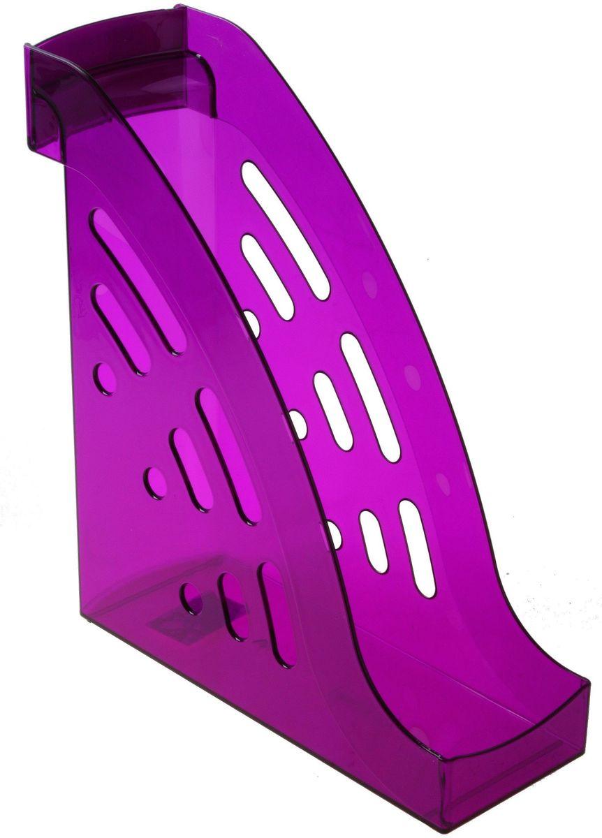 Стамм Лоток для бумаг вертикальный Торнадо цвет сливовый584865Лоток для бумаг Стамм выполнен в современном элегантном дизайне из высококачественного пластика.Лоток имеет одно отделение для листов формата А4, на рабочем столе устанавливается вертикально.С лотком для бумаг Стамм у васбольше не возникнут сложности с поддержанием порядка на столе!