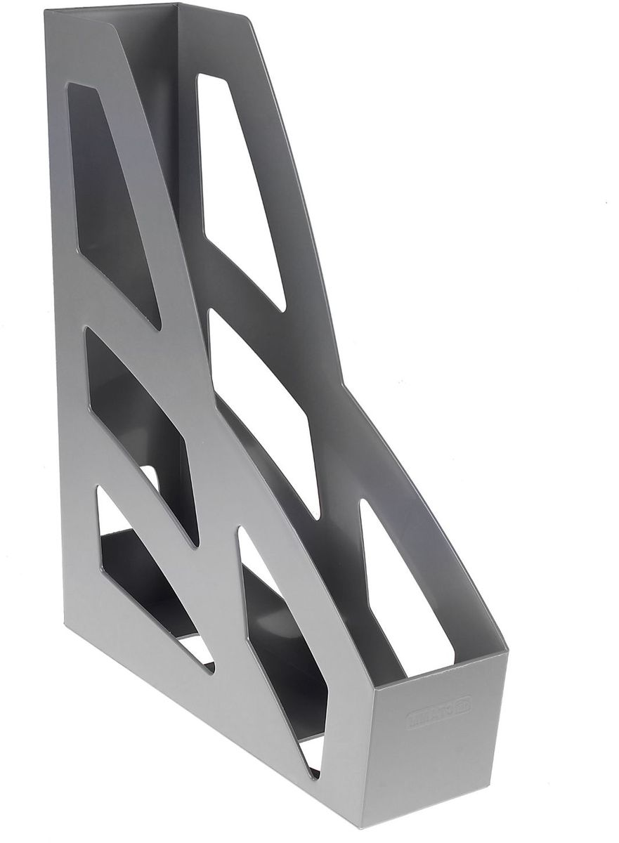 Стамм Лоток для бумаг вертикальный Лидер цвет серый 601412 - Лотки, подставки для бумаг