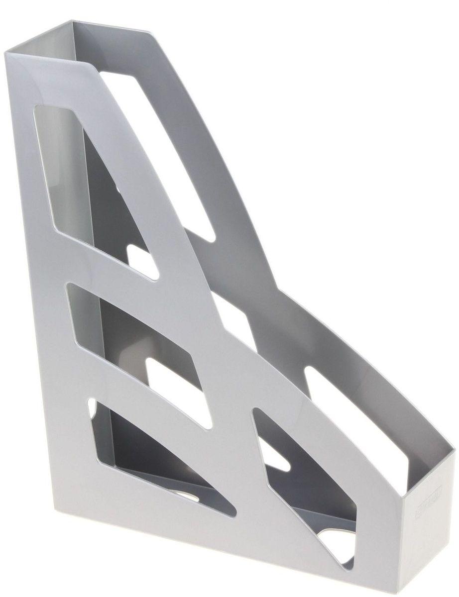 Стамм Лоток для бумаг вертикальный Лидер цвет серый 609294609294Лоток для бумаг Стамм выполнен в современном элегантном дизайне из высококачественного пластика.Лоток имеет одно отделение для листов формата А4, на рабочем столе устанавливается вертикально.С лотком для бумаг Стамм у вас больше не возникнут сложности с поддержанием порядка на столе!