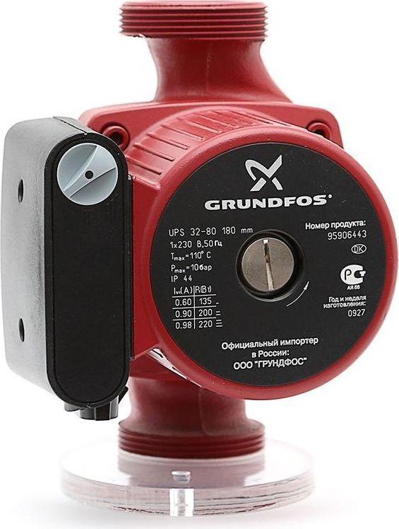 Насос циркуляционный Grundfos UPS 32-80, 440-470 Вт95906443Насос циркуляционный Grundfos UPS 32-80 440-470Вт высота 12м 10бар (96401942)