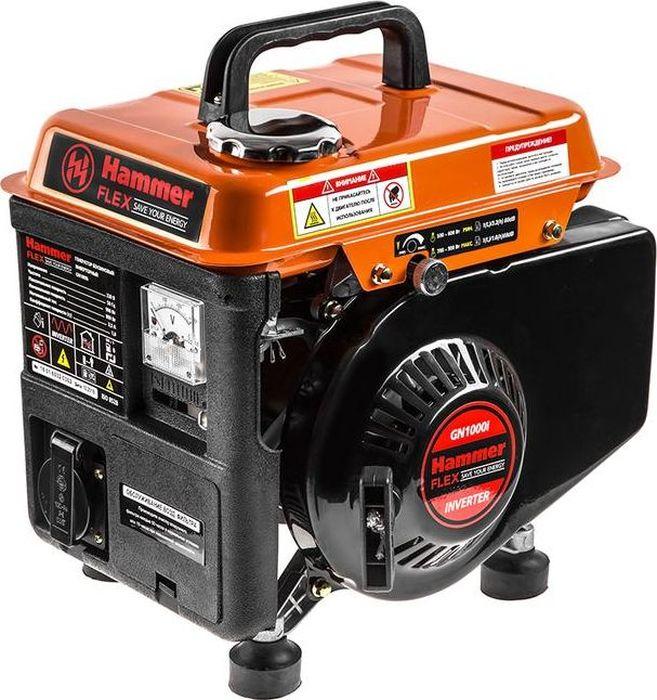 Бензоэлектростанция Hammer Flex GN1000i106-032Бензоэлектростанция Hammer Flex GN1000i выполнена изкачественных материалов. Характеристики: Мощность активная (кВт): 0,9. Рабочий объем (см3): 63. Бак (л): 2. Время работы на полном баке (ч): 3,5. Двигатель: 2-х тактный. Вид топлива: бензин. Назначение генератора: резервный. Инверторная технология: есть.