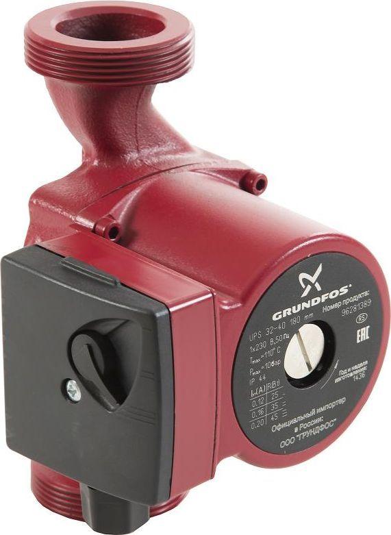 Насос циркуляционный Grundfos UPS 32-40, 25-45 Вт насос электрический grundfos alpha2 25 40 для чистой воды 18 вт 2 4 м3 ч