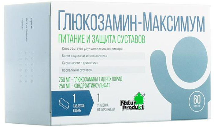 Глюкозамин - Максимум, 30 таблеток суставит гель бальзам хондроитин глюкозамин 125мл