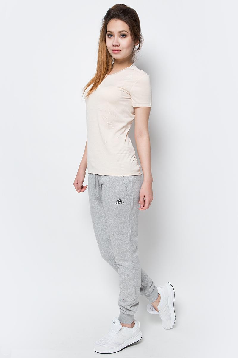 Брюки спортивные женские adidas Ess Solid Pant, цвет: серый. S97160. Размер S (42/44)S97160Брюки спортивные женские adidas Ess Solid Pant выполнены из хлопка и полиэстера. Женские брюки, в которых комфортно в течение всего дня. Рифленые манжеты и пояс на завязках обеспечивают удобную посадку. Облегающий крой в современном стиле. Модель дополнена прорезными карманами и эластичным поясом.