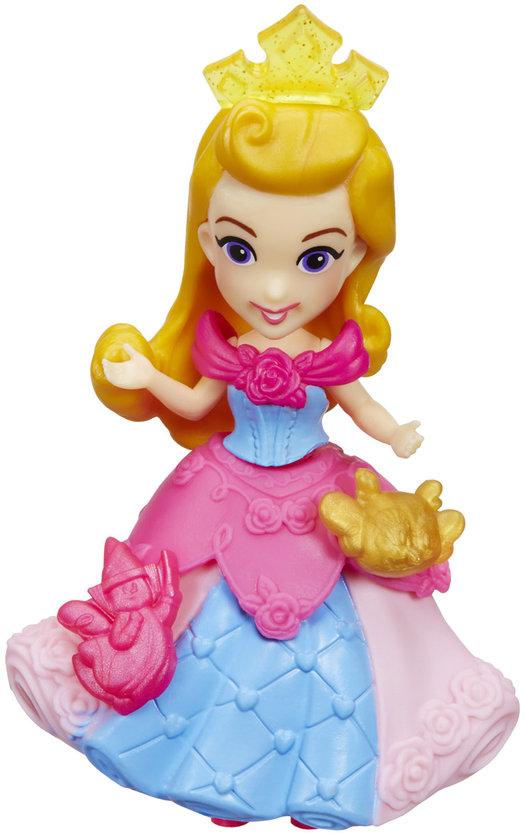 Disney Princess Мини-кукла Аврора цвет платья розовый голубой кукла мини анна disney princess