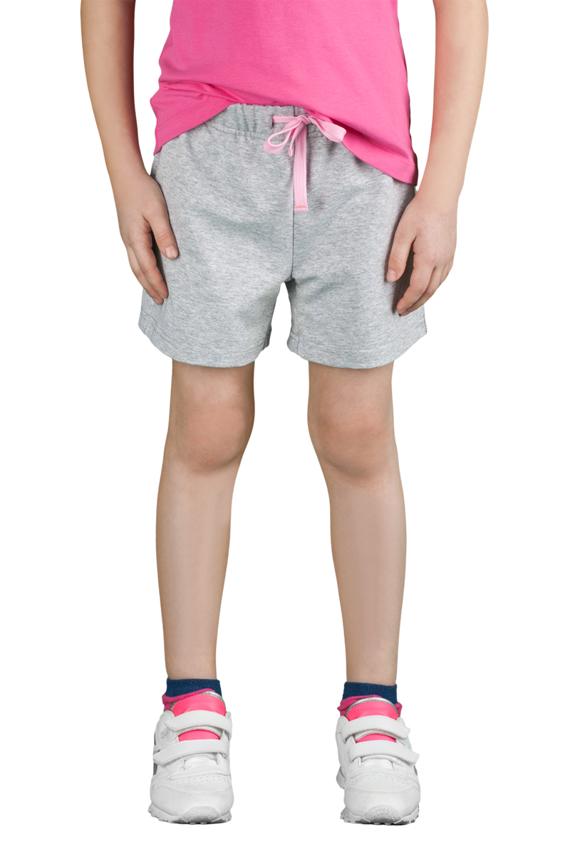 Шорты для девочки Boom!, цвет: серый. 70799_BLG_вар.2. Размер 98/104, 3-4 года кулон 3 4 цвет 104 без подвеса