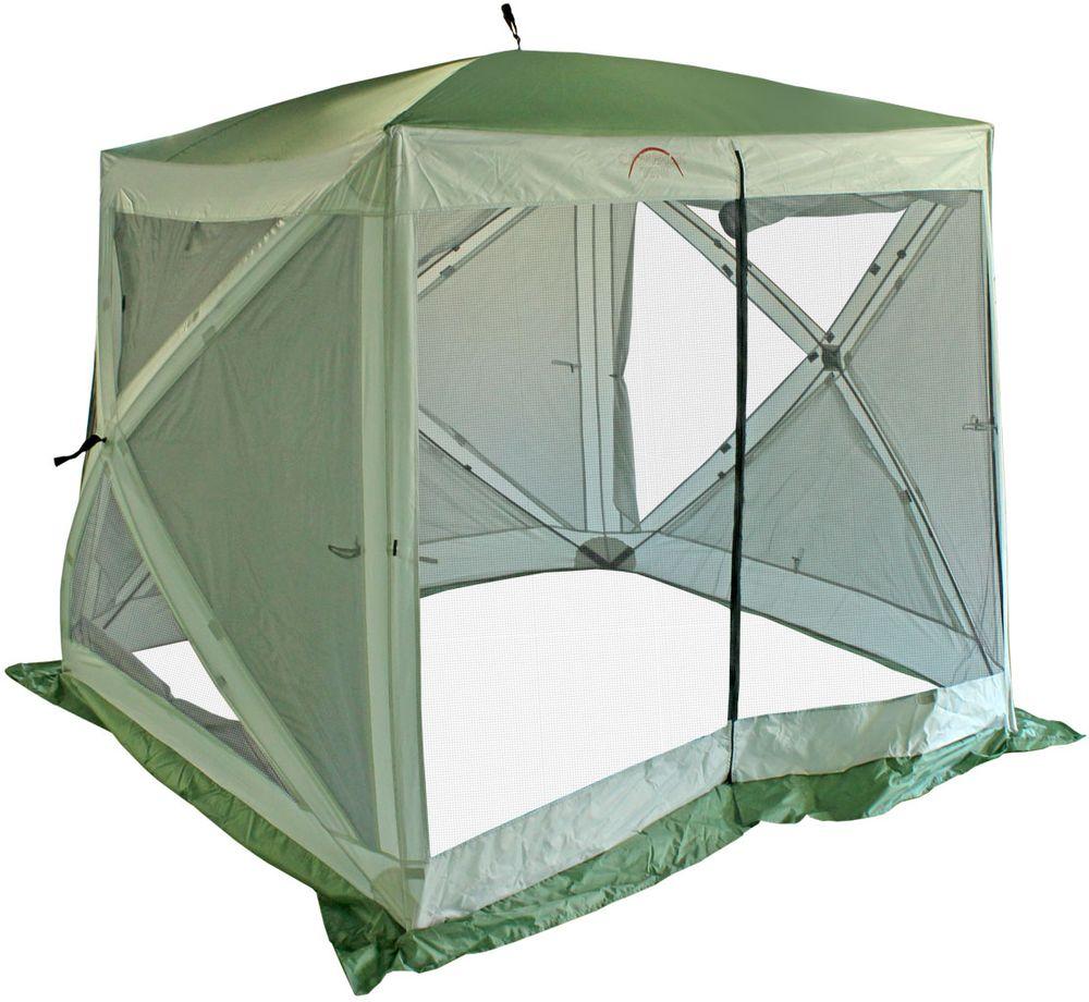 Тент Campack Tent A-2002W, с ветро-влагозащитными полотнами, 2,3 х 2,3 х 2 м62418Современная модель быстросборного кемпингового тента с каркасом из фибергласса.Тент отлично подойдет для организации комфортного отдыха на природе. Вместительные размеры позволят разместить столовую или кухню. Тент оборудован антимоскитными сетками и влаго-ветрозащитными полотнами для защиты от непогоды. Полотно тента изготовлено из ткани Oxford Poly PU c полиуретановой пропиткой 3000 мм водного столба для защиты даже от сильных ливней. Швы тента дополнительно проклеены для защиты от проникновения влаги. Высококачественный каркас из фибергласса обеспечивает надежность и стойкость тента к ветровым нагрузкам. В комплекте колышки и оттяжки для закрепления тента. Тент складывается в удобную сумку из усиленной ткани.Размер: 2,3 х 2,3 х 2 м.Каркас: Fiberglass 11 мм.Ткань: Oxford 210D 3000 мм в.ст.Вес: 9 кг.