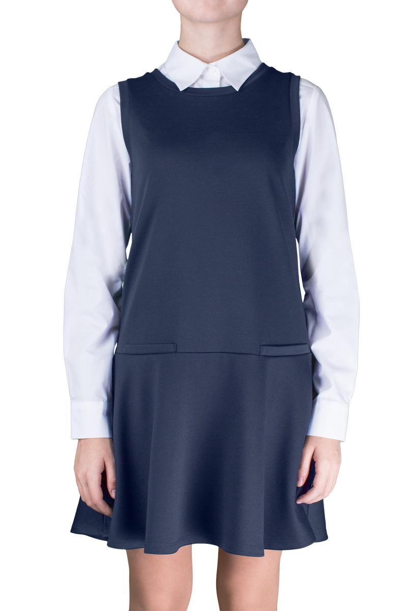 Сарафан для девочки Orby School, цвет: темно-синий. 70374_OLG_вар.1. Размер 158, 11-12 лет юбка orby юбка