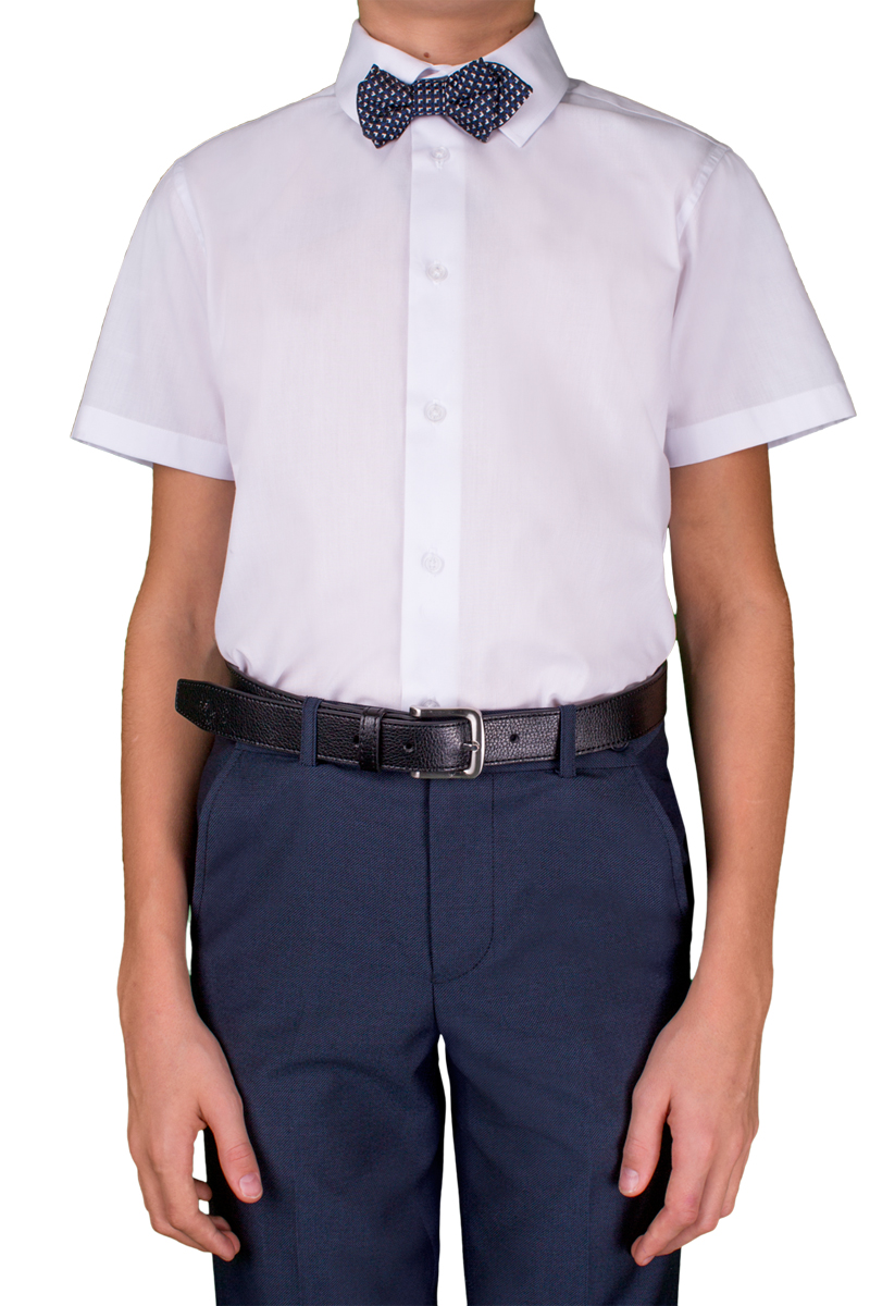 Рубашка для мальчика Orby, цвет: белый. 70405_OLB_вар.1. Размер 140, 9-10 лет70405_OLB_вар.1Стильная рубашка для мальчика Orby идеально подойдет для школы. Она необычайно мягкая, легкая и приятная на ощупь, не сковывает движения малыша и позволяет коже дышать, не раздражает даже самую нежную и чувствительную кожу ребенка, обеспечивая ему наибольший комфорт. Рубашка прямого кроя с коротким рукавом и классическим воротничком застегивается на пуговицы.Такая рубашка - незаменимая вещь для повседневного гардероба.