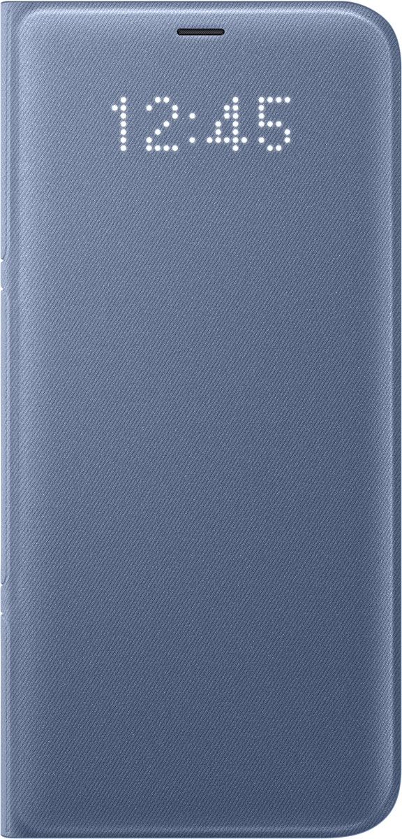 Samsung EF-NG955 LED-View чехол для Galaxy S8+, BlueEF-NG955PLEGRUЧехол LED View Cover предназначен для флагмана от Samsung - Galaxy S8+. Верхняя крышка флип-кейса оснащена чувствительным сенсором, который реагирует на открытие/закрытие и нажатие кнопки питания. На передней панели чехла отображается текущая информация экрана - время, процент заряда, пропущенные вызовы и смс. Очередная фишка чехла - возможность отвечать на звонки, не открывая его, - просто проведите пальцем по панели, как по экрану. Чехол плотно прилегает к смартфону и предохраняет модель от падений и попадания пыли.