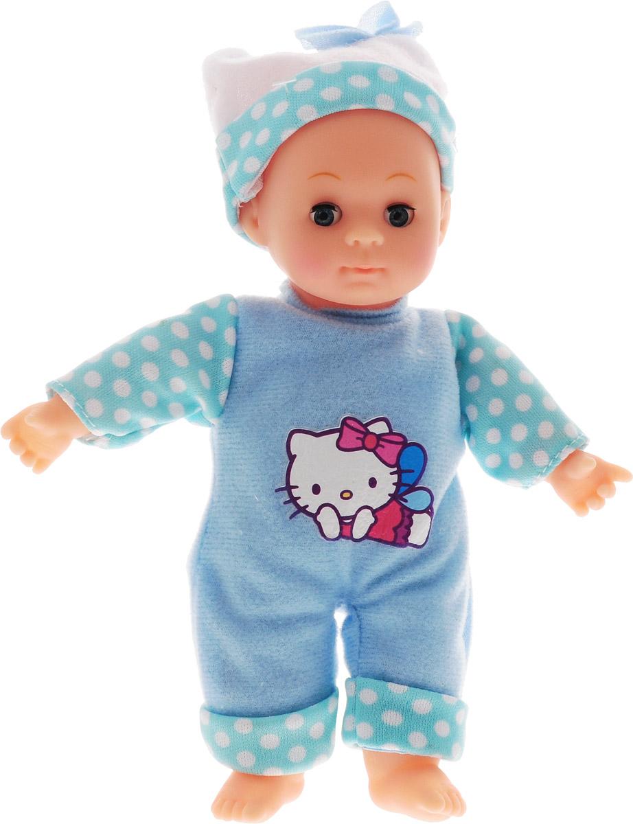 Карапуз Пупс озвученный Hello Kitty цвет одежды голубой в горошек куклы карапуз пупс карапуз hello kitty