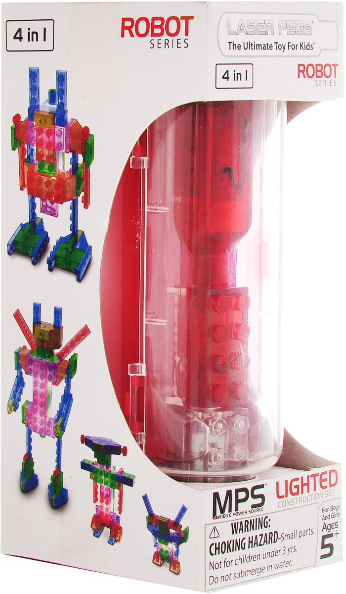 Laser Pegs Конструктор Роботы 4 в 1 сидушка лежак gift n home яхтинг 40 х 120 см