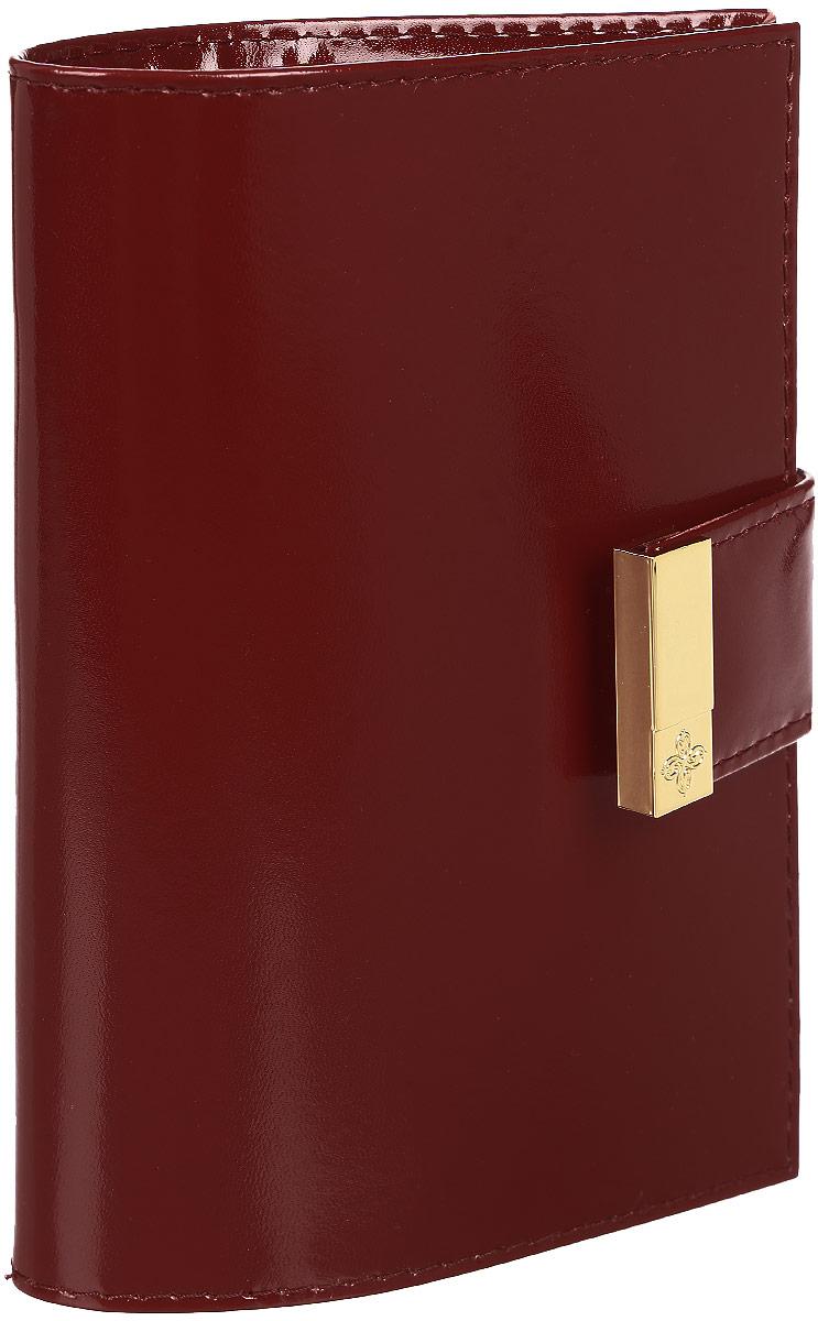 Обложка для паспорта Dimanche Elite Гранат, цвет: бордовый. 150Натуральная кожаОбложка для паспорта Dimanche Elite Гранат изготовлена из натуральной кожи бордового цвета. Внутри содержится два прозрачных захвата для паспорта. Внутренняя отделка - из стильной ткани насыщенного красного цвета. Закрывается обложка на кнопку хлястиком с металлическим украшением. Обложка Dimanche Elite Гранат не только поможет сохранить внешний вид вашего паспорта и защитит его от повреждений, но и станет ярким аксессуаром, который подчеркнет ваш неповторимый стиль. Обложка упакована в фирменную подарочную коробку.
