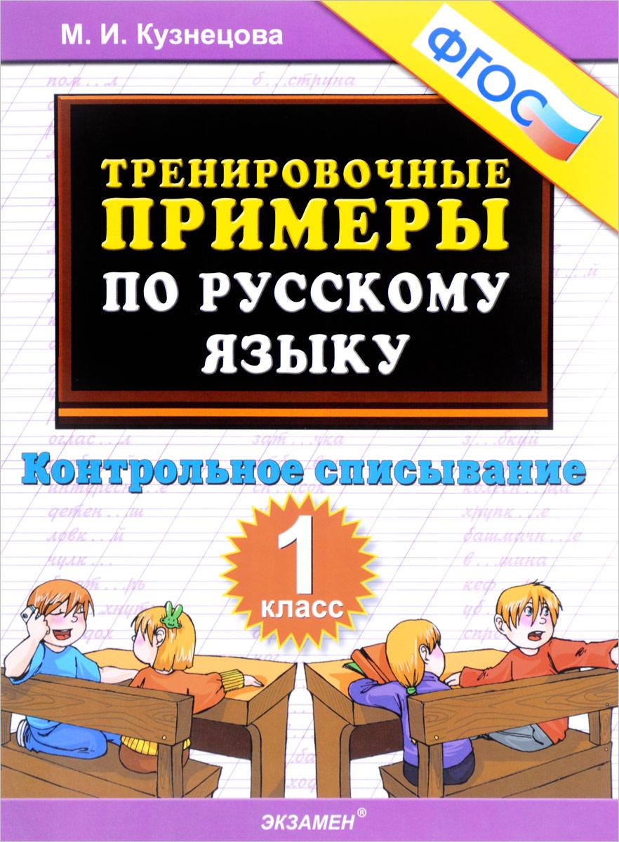 Русский язык. Контрольное списывание. 1 класс. Тренировочные примеры