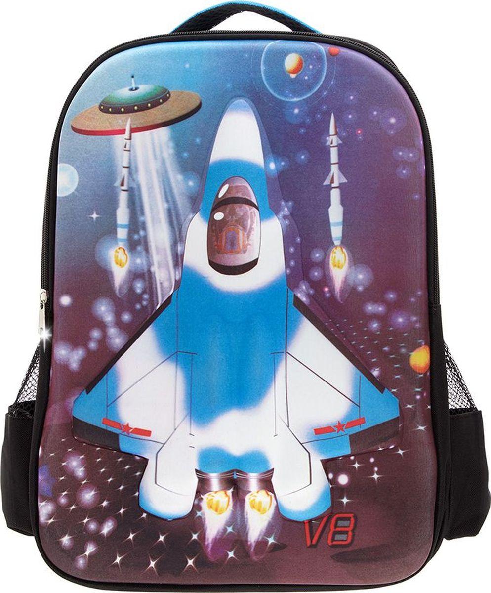 3D Bags Рюкзак дошкольный Самолет3DHM283Дошкольный рюкзак 3D Bags Самолет идеально подходит для хранения важных вещей, которые так необходимы маленьким героям на детской площадке, во время прогулки или на пикнике.Рюкзак выполнен из прочного и износоустойчивого полиэстера. Просторный внутренний отсек будет очень удобен в использовании. Лицевая сторона рюкзака на прочной основе выполнена в виде объемного самолета.