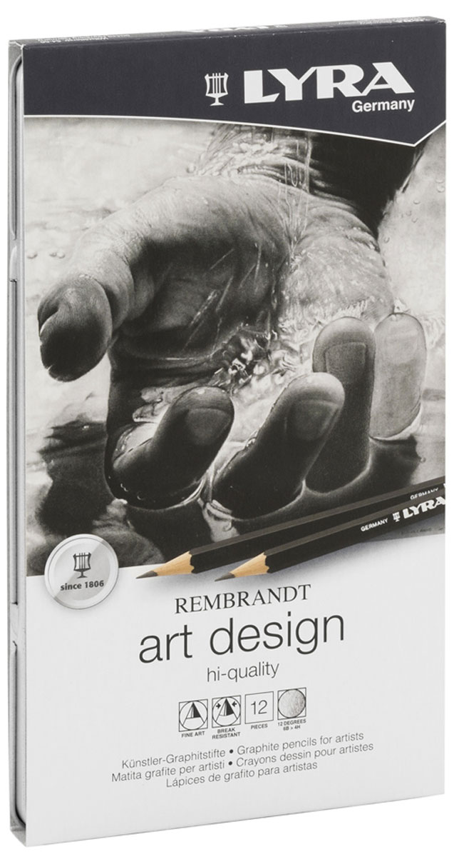 Lyra Художественные карандаши Art Design 12 шт 14 pieces sketch drawing pencil set 12b10b 8b 7b 6b 5b 4b 3b 2b 1b hb 2h 4h 6h