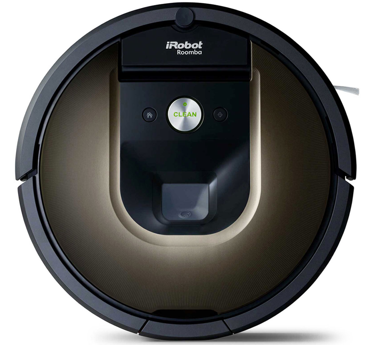iRobot Roomba 980 робот-пылесосRoomba 980iRobot Roomba 980 – ваш новый подход к уборке. Управляйте чисткой полов в вашем доме через смартфон из любой точки мира в любое время. Roomba 980 – первый из семейства Roomba, предназначенный для полностью автономной уборки целого дома.Компактный корпус достаточно небольшой высоты – чуть больше 9 сантиметров, позволяет проникать даже под самые низко стоящие объекты, туда куда обычным пылесосом или шваброй обычно так тяжело залезть. Два подпружиненных колеса обеспечивают отличную маневренность, ведь они оснащены индивидуальными электромоторами, которые работают независимо друг от друга. А значит, Румба способна разворачиваться даже на месте. Кроме этого подпружиненная подвеска ведущих колес обеспечивает преодоление препятствий, порогов, ковров и других объектов высотой больше 5 сантиметров.Робот-пылесос оснащен множеством сенсоров, они определяют тип убираемого покрытия, количество поднятого мусора и степень загрязненности полов. Ключевые сенсоры расположены в переднем бампере за тонированным стеклом, именно они вместе с видеокамерой визуального позиционирования определяют приближение препятствия. Кроме этого, если все же произошел физический контакт с объектом в помещении, то в таком случае подпружиненный бампер смягчает его силу и с помощью специальных сенсоров регистрирующих перемещение бампера робот точно определяет факт столкновения и его направление. Кроме этого, для сохранности предметов и самого робот пылесоса от царапин и повреждений, бампер в нижней выпирающей части имеет специальное прорезиненное покрытие.iRobot Roomba 980 имеет в своем арсенале датчики перепада высоты расположенными на нижней плоскости корпуса, они контролируют убираемую поверхность, и если пылесос заметит резкий перепад высота (например, ступеньки или другой обрыв), то он остановится и продолжит уборку в другом направлении. Система работает очень эффективно, Roomba никогда не упадет со ступенек и даже способна убирать на шкафах, столах или других 