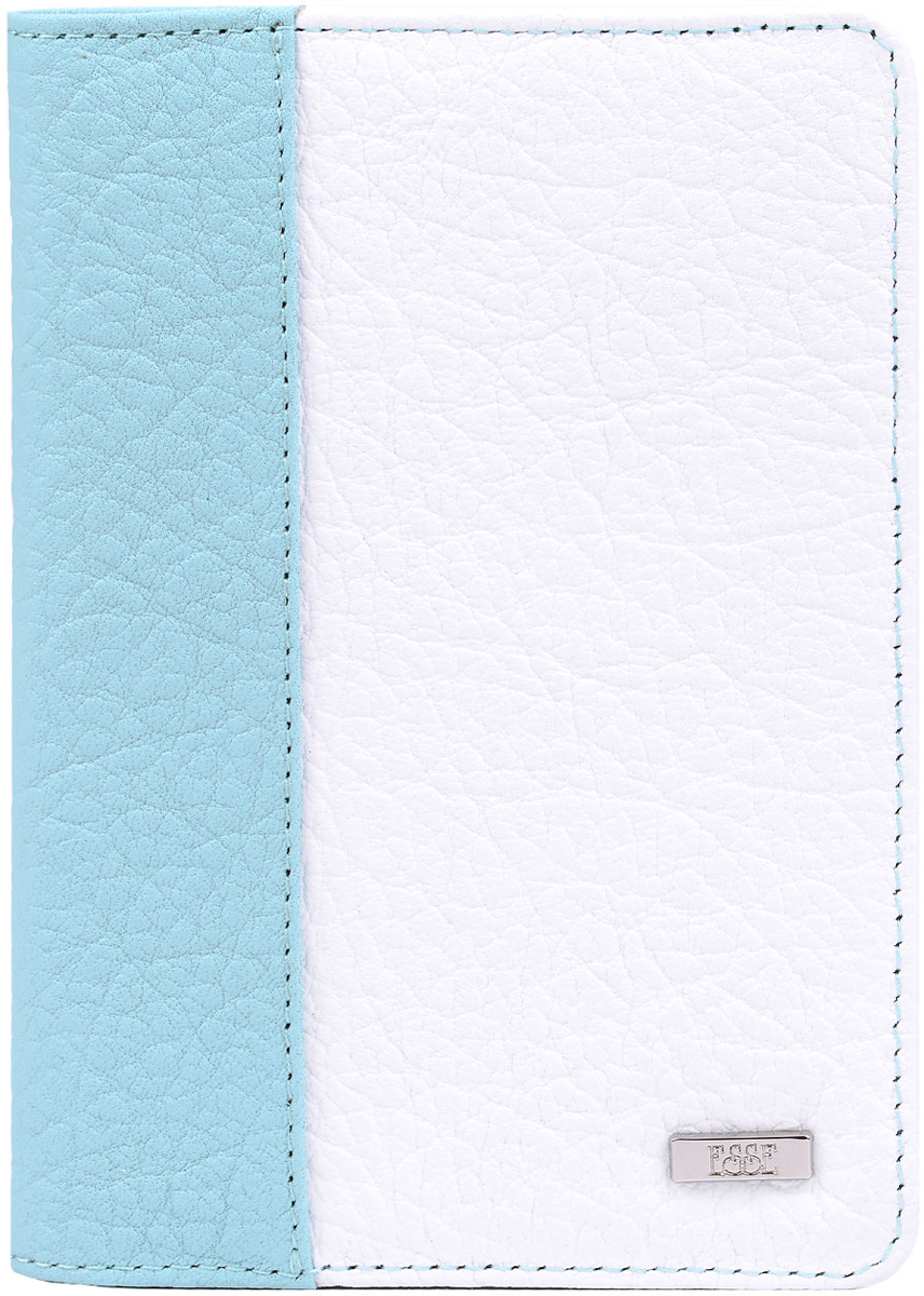 Обложка для автодокументов женская Esse Page auto, цвет: мята, белый, синий. GPGA00-000000-FJ638O-K100Натуральная кожаСтильная и функциональная женская обложка для автодокументов Esse Page Auto не только поможет сохранить внешний вид ваших документов, но и станет стильным аксессуаром, идеально подходящим вашему образу.Обложка выполнена из качественной натуральной кожи с оригинальным тиснением. Подкладка выполнена из полиэстера.Изделие раскладывается пополам и содержит три прорези для кредитных карт или визиток, два боковых открытых кармана и пластиковый блок с шестью файлами, позволяющий рационально разместить все необходимые документы, в том числе страховку.Изделие поставляется в фирменной упаковке.Оригинальная обложка для автодокументов Esse станет отличным подарком для человека, ценящего качественные и практичные вещи.