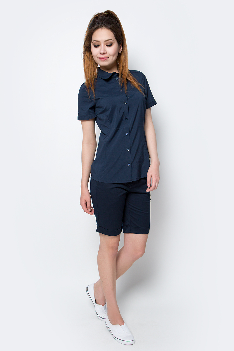 Рубашка женская Jack Wolfskin Sonora Shirt, цвет: темно-синий. 1402381-1910. Размер S (44) рубашки jack wolfskin рубашка banff park shirt