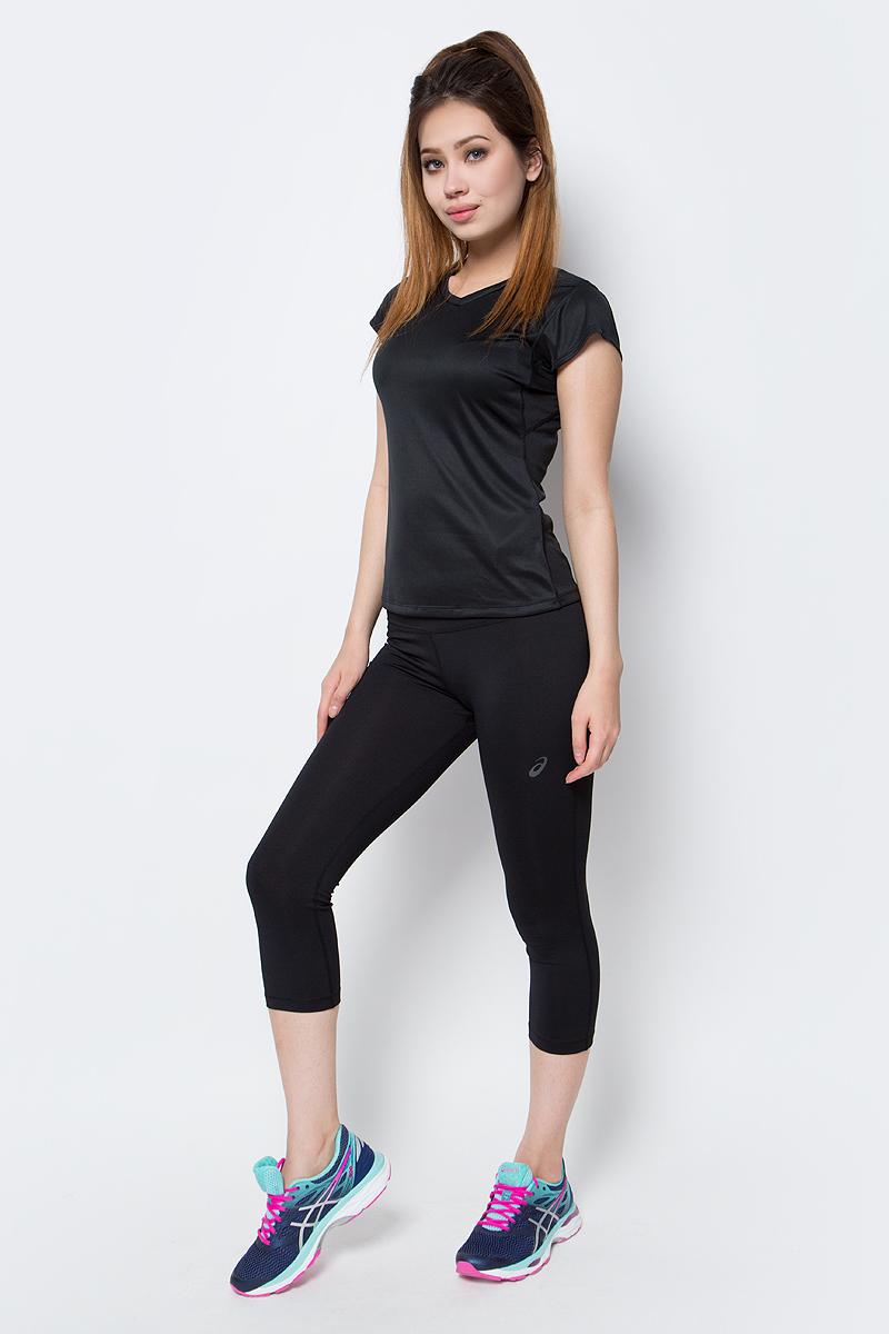 Бриджи для фитнеса женские Asics 3/4 Spiral Tight, цвет: черный. 136047-0904. Размер XS (40/42)136047-0904Женские бриджи для фитнеса Asics 3/4 Spiral Tight выполнены из полиэстера с добавлением эластана. На талии модель дополнена эластичным поясом.