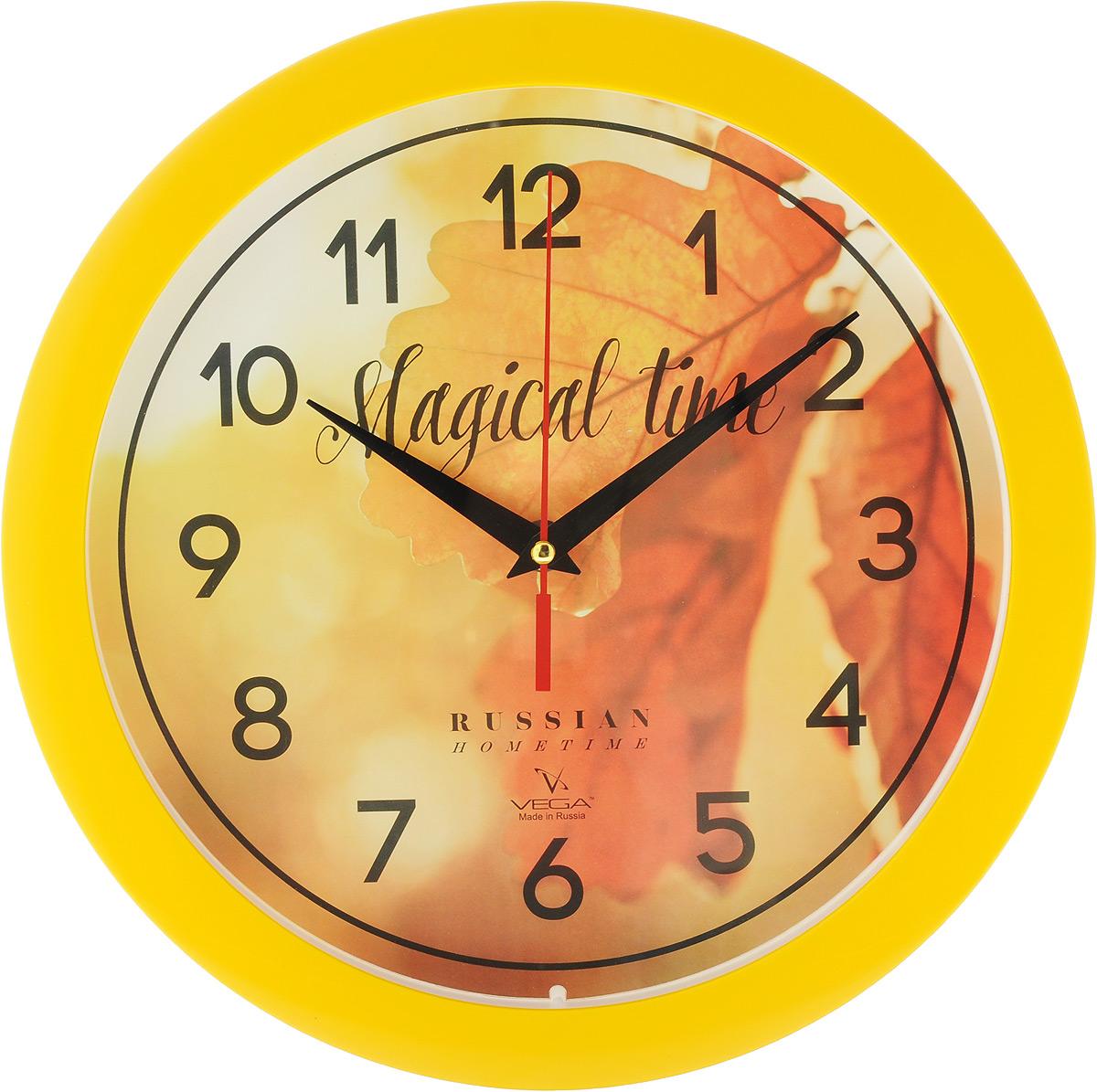 Часы настенные Вега Осенние листьяП1-2/7-279