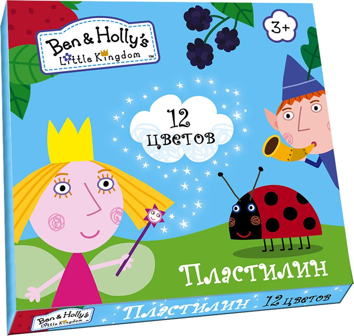 Ben&Holly Пластилин Бен и Холли 12 цветов31681Яркий и легко размягчающийся пластилин Бен и Холли поможет вашему малышу создать множество интересных поделок, а любимые герои мультфильма вдохновят его на новые творческие идеи. Лепить из этого пластилина легко и приятно: он обладает отличными пластичными свойствами, не липнет к рукам, не имеет запаха, его цвета легко смешиваются друг с другом. Создавайте новые цвета и оттенки, фантазируйте, экспериментируйте - это увлекательно и полезно: лепка активно тренирует у ребенка мелкую моторику и умение работать пальчиками, развивает тактильное восприятие формы, веса и фактуры, совершенствует воображение и пространственное мышление.В наборе Бен и Холли 12 ярких цветов пластилина по 15 г и пластиковая стека.Состав: парафин, петролатум, мел, каолин, красители.