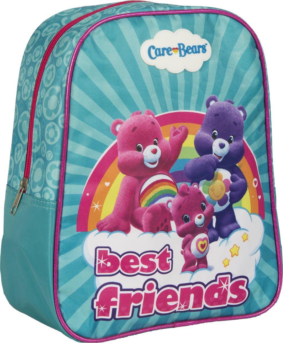 Care Bears Рюкзак дошкольный Best Friends 3173631736Дошкольный рюкзак Care Bears Best Friends имеет стильный дизайн, компактный размер и легкий вес, а в его вместительном внутреннем отделении на молнии легко поместятся все необходимые вещи, в том числе предметы формата А4. Поэтому он оптимально подойдет вашему ребенку для прогулок, занятий в кружке или спортивной секции.Мягкие регулируемые лямки берегут плечи от натирания, а светоотражающие элементы, размещенные на них, повышают безопасность ребенка, делая его заметнее на дороге в темное время суток. Удобная ручка помогает носить аксессуар в руке или размещать на вешалке.Износостойкий материал с водонепроницаемой основой и подкладка обеспечивают изделию длительный срок службы и помогают держать вещи сухими в дождливую погоду.Рюкзачок декорирован ярким принтом (сублимированной печатью), устойчивым к истиранию и выгоранию на солнце.