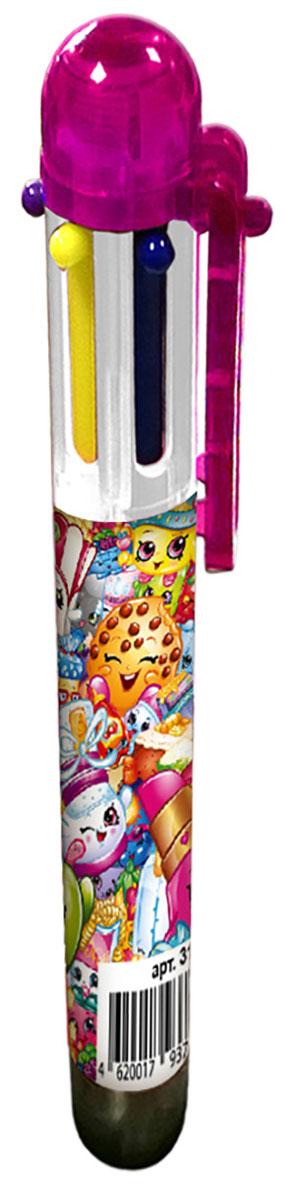 Shopkins Ручка шестицветная Шопкинс31782В учебе часто требуется много разноцветных ручек, которые занимают лишнее место в пенале и прибавляют вес и без того тяжелому рюкзаку. Решить эту проблему поможет многоцветная автоматическая ручка с забавными героями мультфильма Шопкинс: с ней не потребуется носить с собой много ручек, так как в ней уже есть 6 основных цветов, которые могут потребоваться в учебе (красный, зеленый, фиолетовый, желтый, синий, черный). Шариковая автоматическая ручка имеет удобную форму и нажимной механизм.Состав: ПВХ, пластик, чернила.