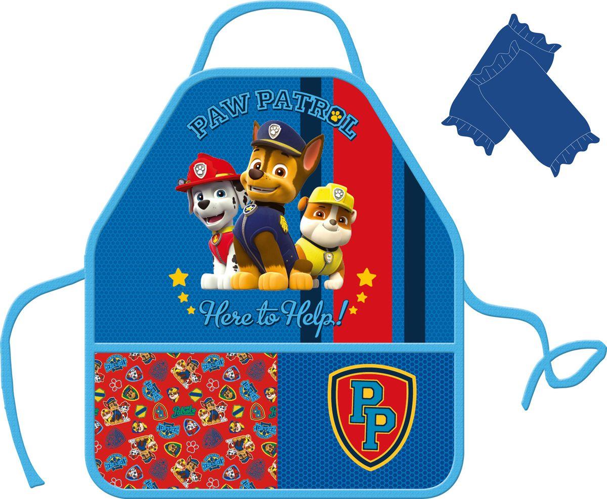 Paw Patrol Фартук детский с нарукавниками Щенячий патруль цвет голубой -  Аксессуары для труда