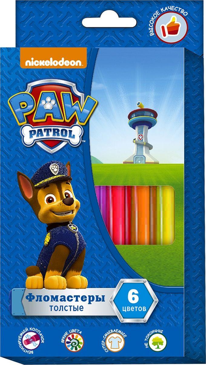 Paw Patrol Набор фломастеров Щенячий патруль толстые 6 цветов paw patrol набор восковых карандашей 12 цветов 2373435