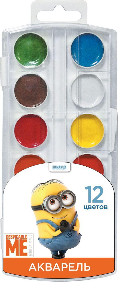 Universal Миньоны Акварель 12 цветов31865В наборе акварельных красок Гадкий Я 12 насыщенных цветов, которые помогут вашему ребенку создать множество ярких картинок. Краскиидеально подходят для рисования: они хорошо размываются водой, легко наносятся на поверхность, быстро сохнут, безопасны прииспользовании по назначению. Цвета: белый, желтый, оранжевый, красный, розовый, голубой, синий, светло-зеленый, темно-зеленый, светло- коричневый, коричневый, черный.Состав: вода питьевая, декстрин, глицерин, сахар, органические и неорганические тонкодисперсныепигменты, консервант, наполнитель.