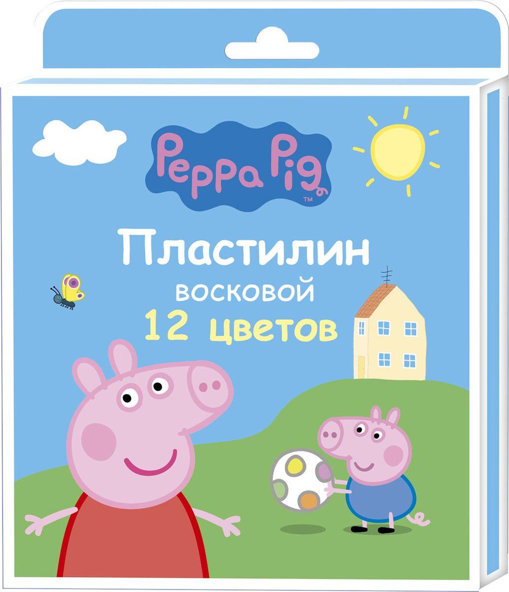 Peppa Pig Пластилин восковой Свинка Пеппа 12 цветов peppa pig пластилин свинка пеппа 12 цветов