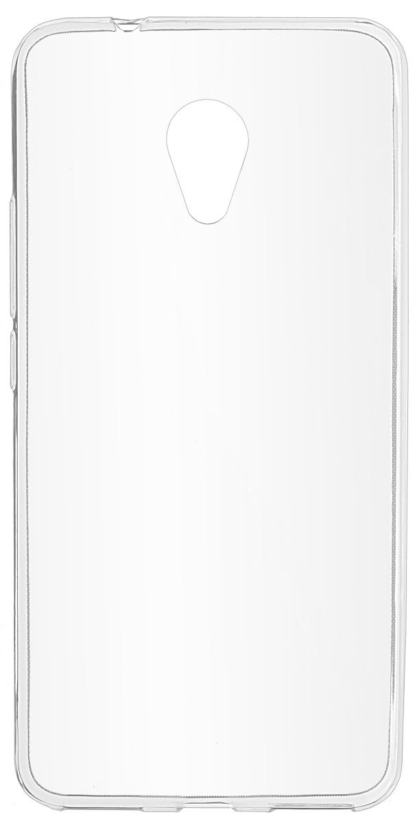 все цены на Skinbox Slim Silicone 4People чехол для Meizu M5S, Transparent онлайн