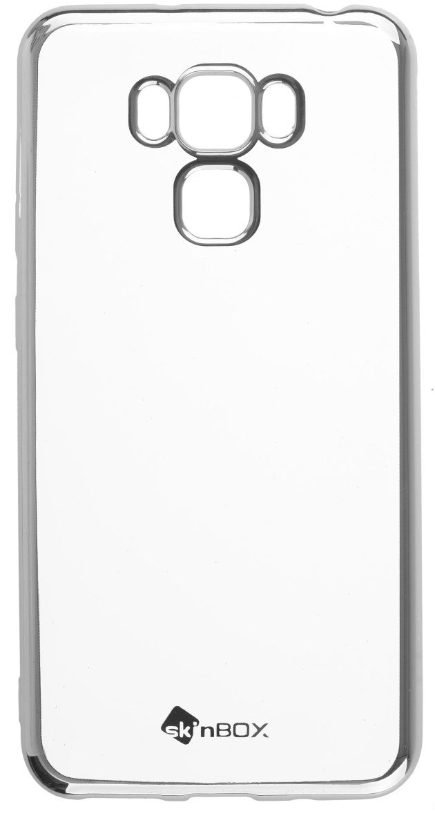 Skinbox Silicone Chrome Border 4People чехол для ASUS Zenfone 3 Max (ZC553KL), Silver чехол для asus zenfone go zb500kl skinbox 4people silicone chrome border case золотистый