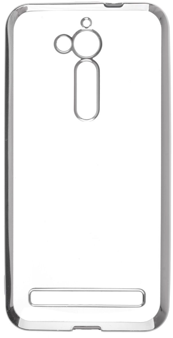 Skinbox Silicone Chrome Border 4People чехол для ASUS ZenFone Go (ZB500KL), Silver skinbox silicone chrome border 4people чехол для asus zenfone go zb500kl gold